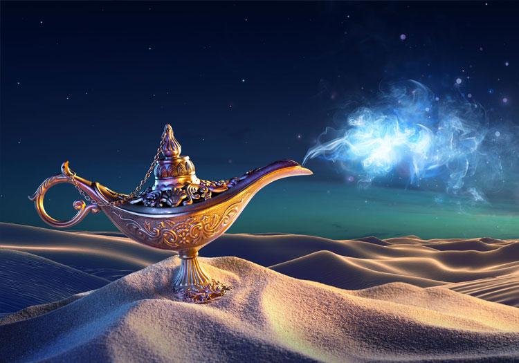 La lampe magique